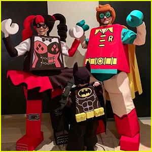 Justin Timberlake, Jessica Biel & Son Silas Are a Lego Superhero Family for Halloween!