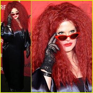 Kelly Osbourne Channels Frances Conroy's 'AHS' Character for Just Jared's Halloween Party!