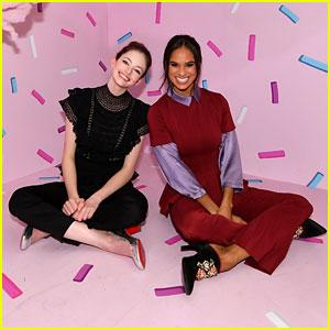 Mackenzie Foy & Misty Copeland Journey Into 'Nutcracker & the Four Realms' at NYC Pop-Up!