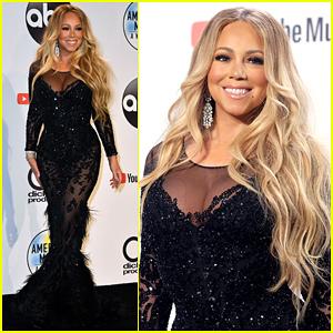 Mariah Carey Shines in American Music Awards 2018 Press Room!