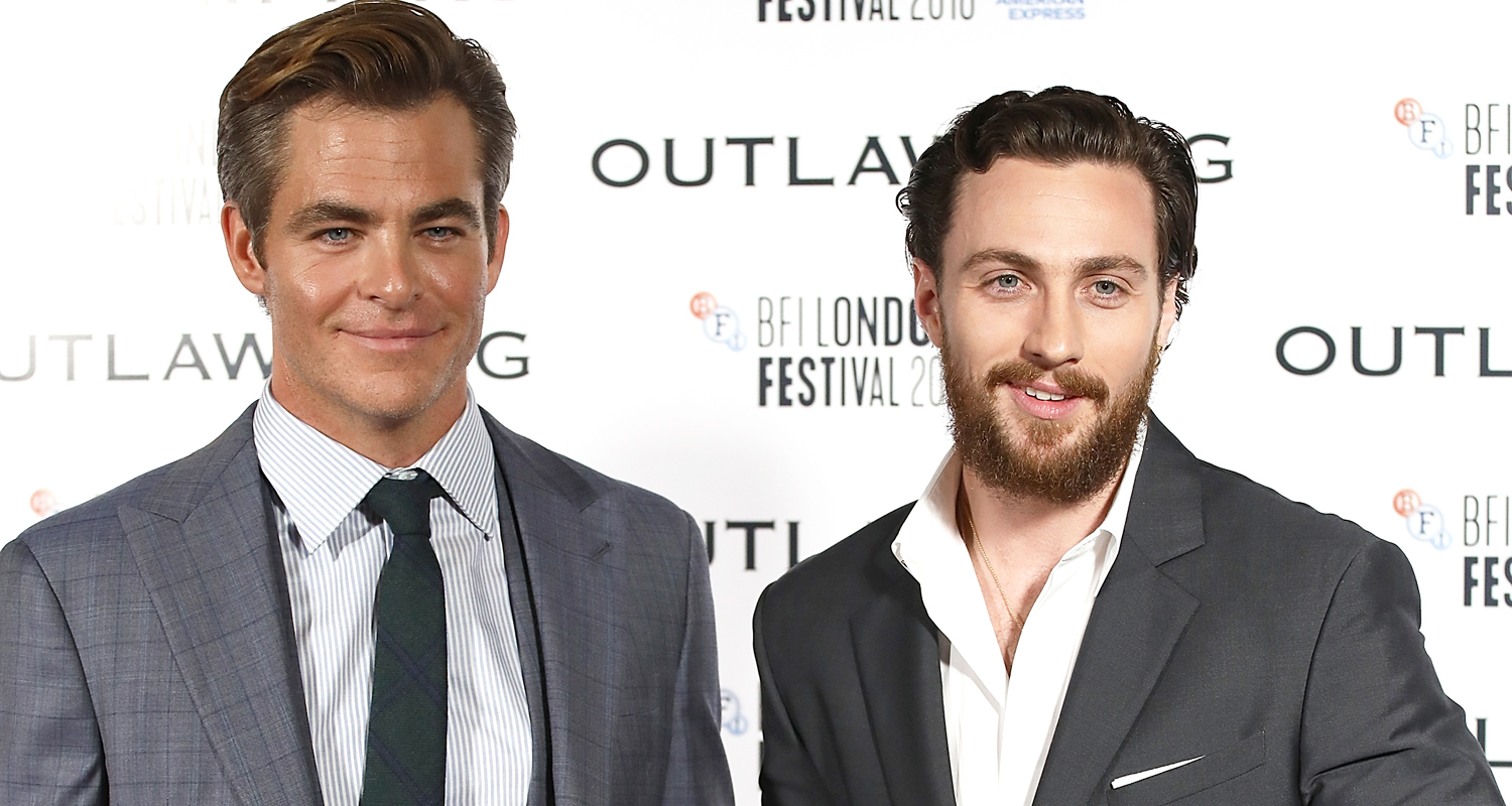 Chris Pine & Aaron Taylor-Johnson Suit Up for ?Outlaw King? European Premiere!