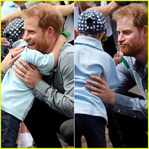 Prince Harry Shares Cute Moment with This Little Boy & There's a Heartwarming Story Behind Their Meeting