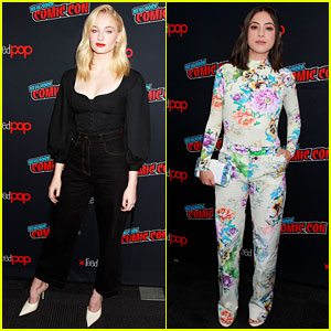 Sophie Turner & Rosa Salazar Promote 'Dark Phoenix' & 'Alita: Battle Angel' at NY Comic Con 2018
