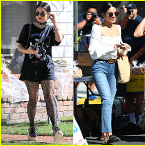 Vanessa Hudgens Dons Halloween-Inspired Outfit Ahead of Farmers Market Trip