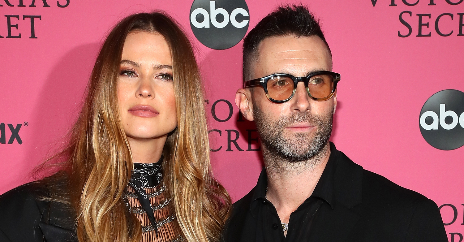 Adam Levine Supports Wife Behati Prinsloo At Victoria's
