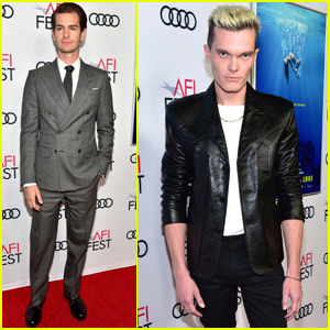 Andrew Garfield & Luke Baines Premiere 'Under The Silver Lake' During AFI Fest