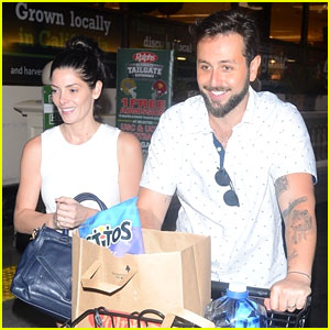 Ashley Greene & Husband Paul Khoury Are All Smiles While Grocery Shopping!