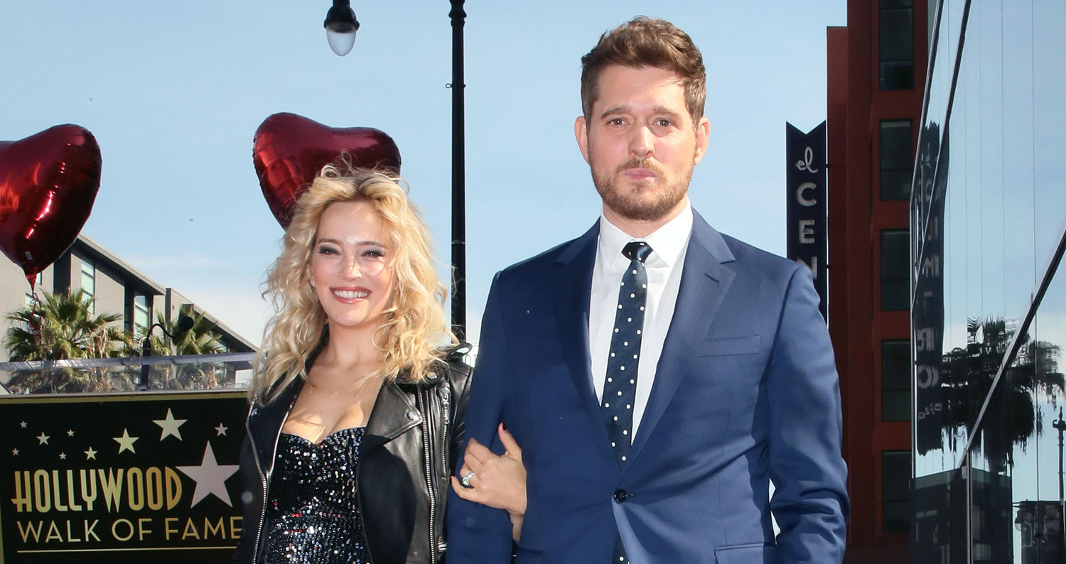 Michael Buble Gets His Star at Hollywood Walk of Fame Ceremony!