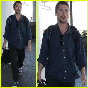 Christian Bale Arrives Home in LA Ahead of Thanksgiving!