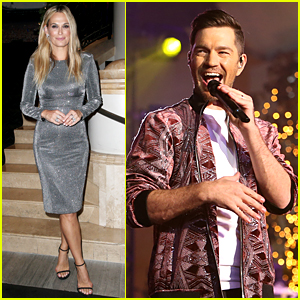 Molly Sims & Andy Grammer Entertain the Crowd at Christmas at The Grove!