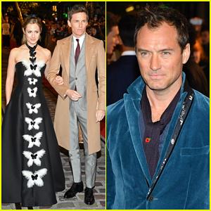 Eddie Redmayne & Jude Law Join 'Fantastic Beasts' Cast at Paris World Premiere!