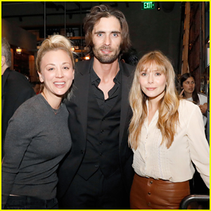 Elizabeth Olsen Teams Up with Kaley Cuoco & Tyson Ritter at EBMRF Benefit!