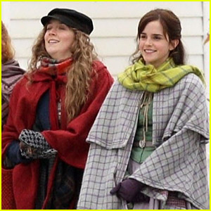 Emma Watson Saoirse Ronan Shoot Snowy Scene For Little Women
