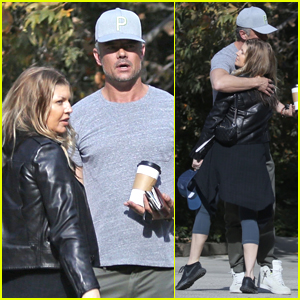 Fergie & Josh Duhamel Hug it Out During Morning Meet Up!