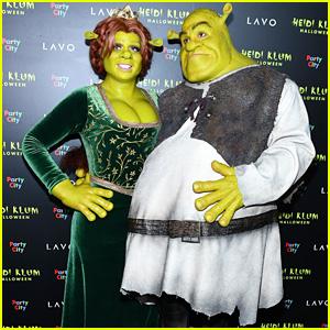 Heidi Klum & Boyfriend Tom Kaulitz Are Shrek & Princess Fiona at Annual Halloween Party!