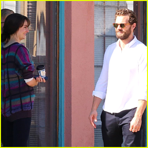 Jamie Dornan & Shailene Woodley Hang Out During an On-Set Break