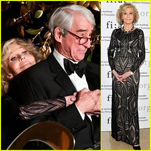 Grace & Frankie's Jane Fonda & Sam Waterston Share a Cute Moment at FIAF Gala