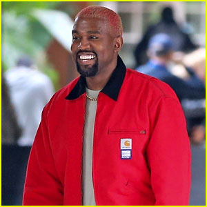 Kanye West Flashes a Grin While Leaving the Hotel Bel-Air