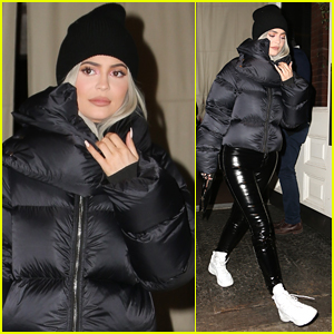 Kylie Jenner Bundles Up for Night Out in NYC!