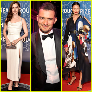 Lily Collins, Orlando Bloom, & Thandie Newton Honor Top Scientists at Breakthrough Prize Event