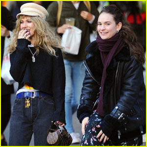 Lily James Hangs Out with Juno Temple in NYC