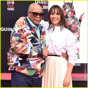 Quincy Jones' Daughter Rashida Joins Him at Hand & Footprint Ceremony!