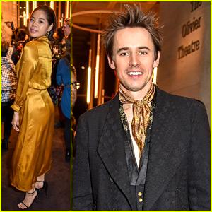 Reeve Carney Celebrates 'Hadestown' Opening with Eva Noblezada!