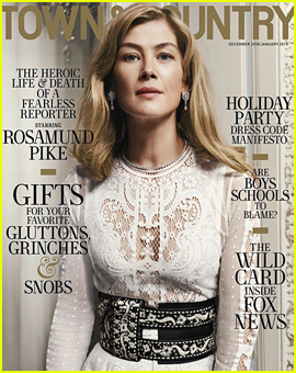 Rosamund Pike Describes the Surprise Early Arrival of Her Son