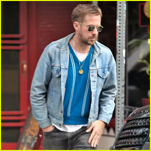 Ryan Gosling Dons Denim Look While Grabbing a Solo Lunch