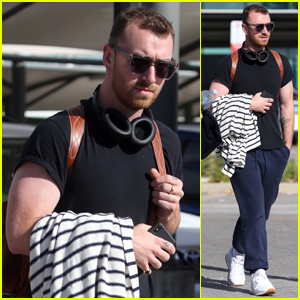 Sam Smith Arrives in Perth for Final Show on 'Thrill Of It All' Tour!