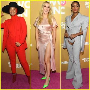 Alicia Keys, Ellie Goulding, & Janelle Monae Step Out for Billboard's Women in Music 2018!
