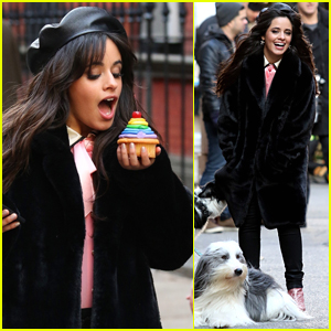 Camila Cabello Eats Cupcakes Plays With Dogs Filming New