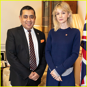 Carey Mulligan Meets with Lord Ahmad In Support of Children Affected by Armed Conflict