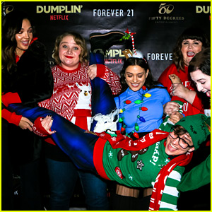 Netflix's 'Dumplin' Stars Celebrate Movie Release at an Ugly Christmas Sweater Party!