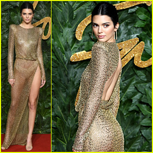 Kendall Jenner Wears Totally Sheer Dress at The Fashion Awards 2018