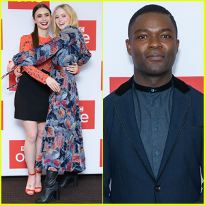 Lily Collins, Ellie Bamber & David Oyelowo Attend 'Les Miserables' Photocall!