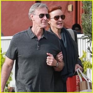 Marcia Cross Holds on Tight to Husband Tom Mahoney in Santa Monica!