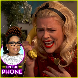 Oprah Winfrey Calls Busy Philipps & Brings Her to Tears (Video)