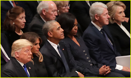 Donald Trump Sits Alongside Past Presidents & First Ladies at George H.W. Bush's Funeral