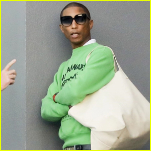 Pharrell Williams Heads to a Morning Meeting in Beverly Hills