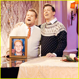 Sean Hayes & James Corden Perform 'Little Drummer Boy' Parody About Michael Rapaport - Watch Here!