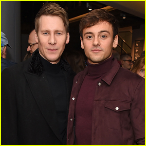 Tom Daley & Dustin Lance Black Couple Up at 'Swan Lake' VIP Performance!