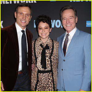 Tony Goldwyn, Tatiana Maslany, & Bryan Cranston Step Out for Opening Night of 'Network' on Broadway!