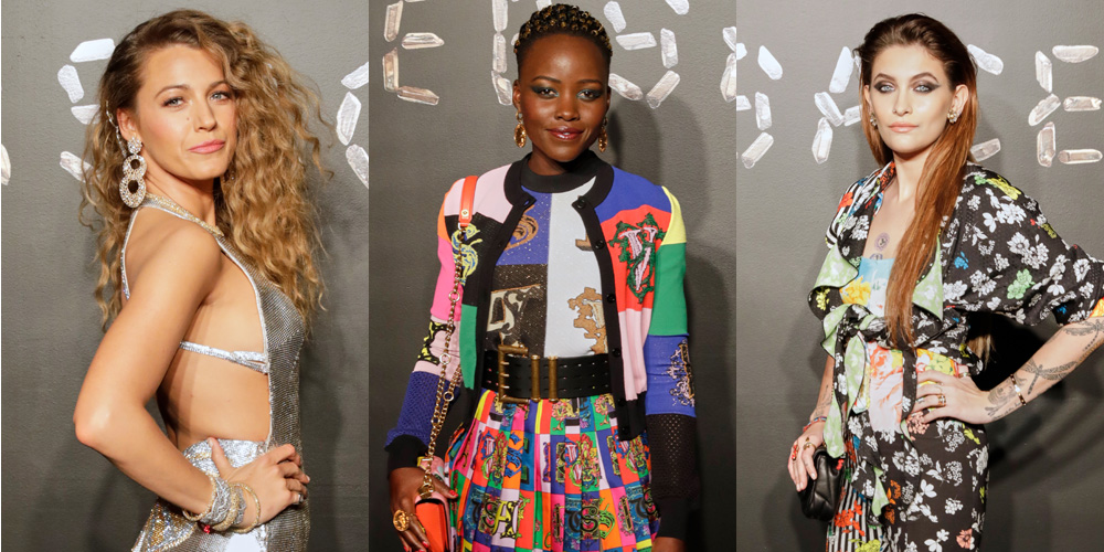 698482ab Blake Lively, Lupita Nyong'o & Paris Jackson Attend Versace Pre-Fall 2019  Runway Show! | 21 Savage, 2Chainz, Ciara, Diane Kruger, Faith Hill, Mary J  Blige, ...