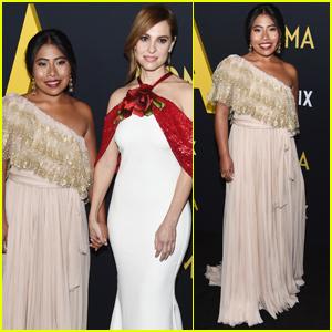 Yalitza Aparicio & Marina de Tavira Bring 'Roma' to Los Angeles
