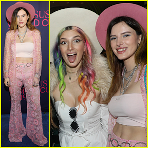 Bella Thorne Poses in Sheer Pink Pants for Pegasus World Cup