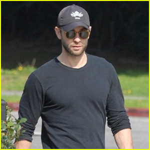 Chace Crawford Takes His Dog Shiner for a Walk in WeHo
