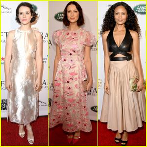 Claire Foy, Caitriona Balfe, & Thandie Newton Go Glam for BAFTA Tea Party