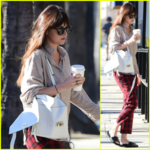Dakota Johnson Heads to the Nail Salon in LA