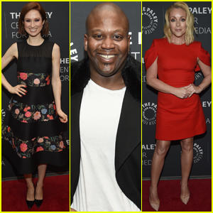 Ellie Kemper, Titus Burgess, & Jane Krakowski Promote Final Episodes of 'Unbreakable Kimmy Schmidt' in NYC